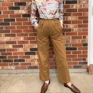 Vintage Pleated Cotton Trouser Pants